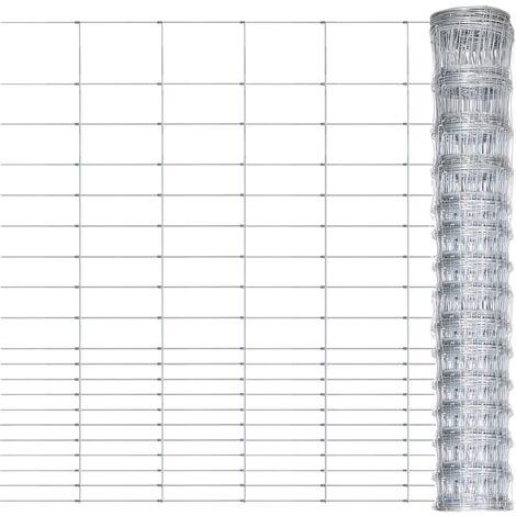 Valla de jardín de acero galvanizado plateado 50x1,6 m - Plateado
