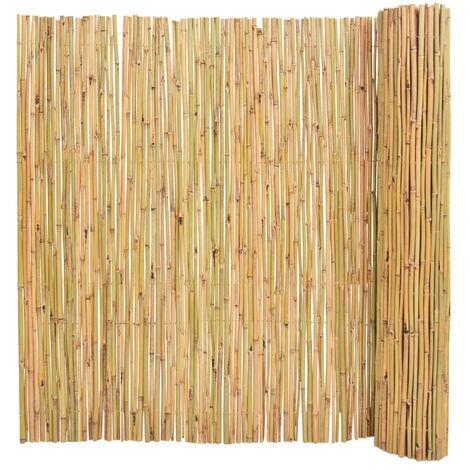 Valla de jardín de bambú 300x150 cm