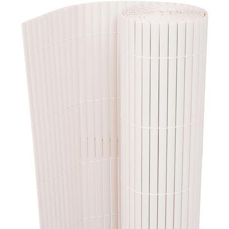 Valla de jardín de doble cara blanca 150x500 cm