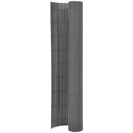 Valla de jardín de doble cara gris 170x500 cm