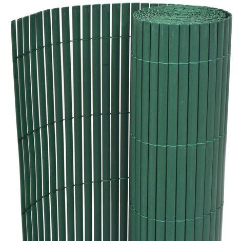 Valla de jardín de doble cara PVC verde 90x300 cm