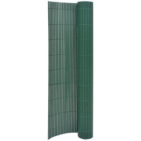 Valla de jardín de doble cara verde 170x300 cm