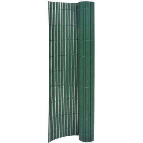 Valla de jardín de doble cara verde 170x500 cm