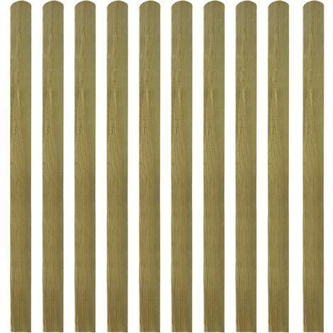 Valla de jardín de listones 10 piezas madera 140 cm