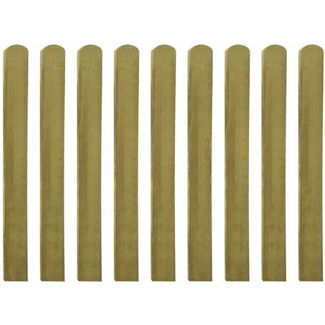 "main image of ""Valla de jardin de listones madera impregnada FSC 10 uds 100 cm"""