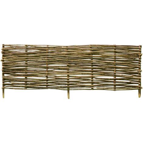 Valla de jardín de madera de avellano 150x40 cm - Marrón
