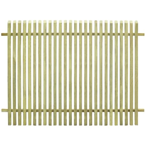 Valla de jardín de madera de pino impregnada 170x125 cm