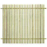 Valla de jardín de madera de pino impregnada FSC 170x150 cm