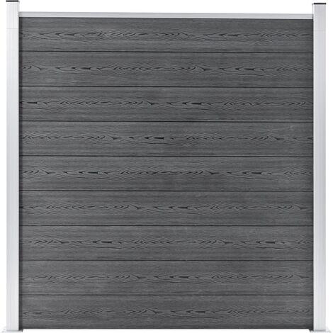 Valla de jardín de WPC gris 180x186 cm