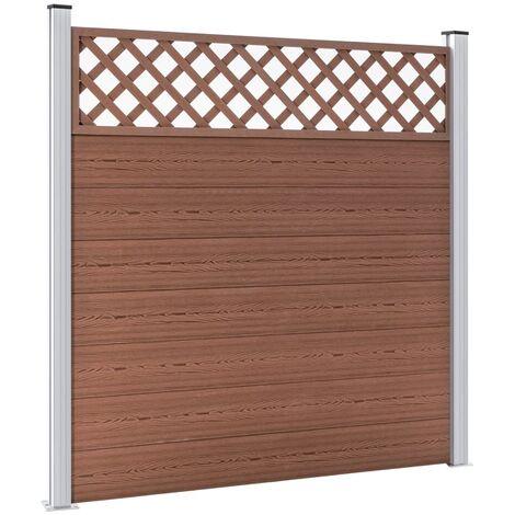 Valla de jardín de WPC marrón 180x185 cm