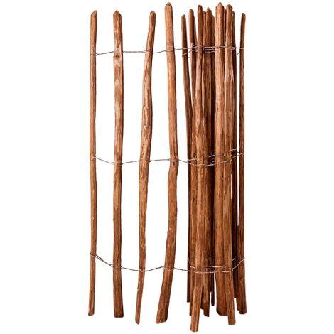 Valla de jardín madera de avellano 150x250 cm - Marrón