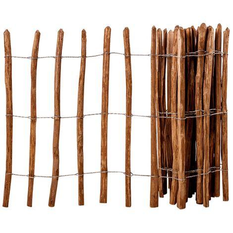 Valla de jardín madera de avellano 90x500 cm