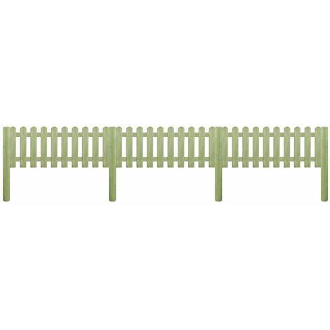 Valla de jardin madera pino impregnada 5,1 m 110 cm 6/9 cm