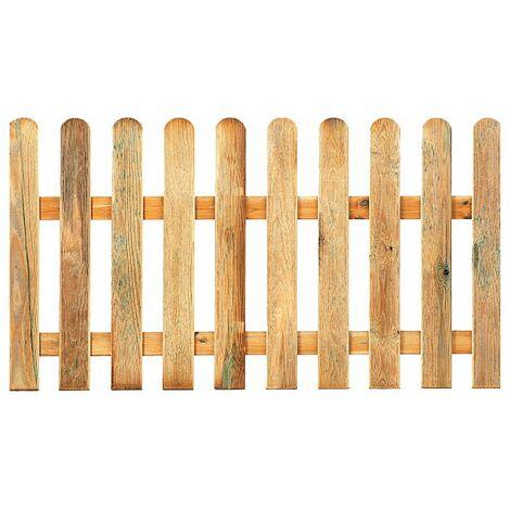 Valla de madera clásica para jardín