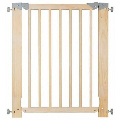 Valla de madera para seguridad niños 70-75cm Oleane