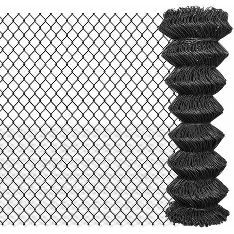 Valla de tela metalica acero gris 25x1,25 m