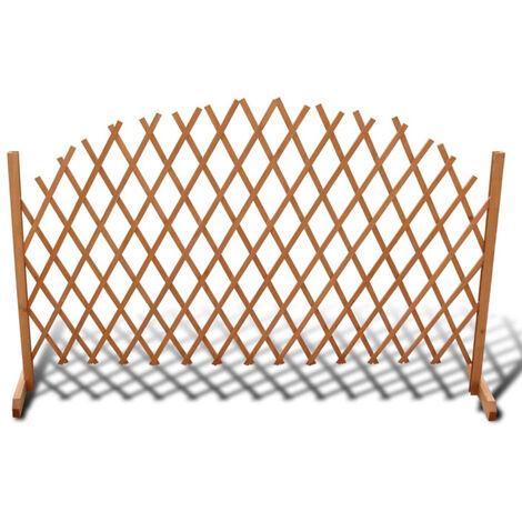 Valla enrejada extensible de madera 180x100 cm