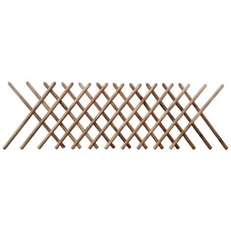 Valla enrejada extesible madera impregnada FSC 250x100 cm
