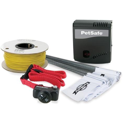 Valla Invisible Pastor Eléctrico Petsafe PRF-3004W-20 Radio Fence perros menores de 18 kg incluye collar y cableado.