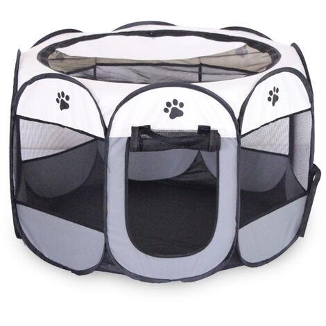 Valla para mascotas octogonal plegable extraible y lavable, jaula para mascotas, M