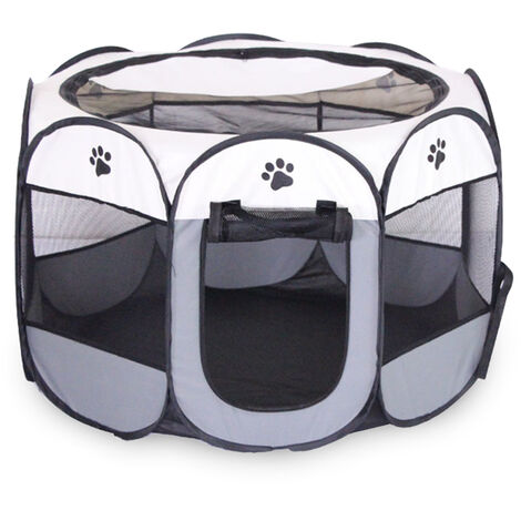 Valla para mascotas octogonal plegable extraible y lavable, jaula para mascotas, s