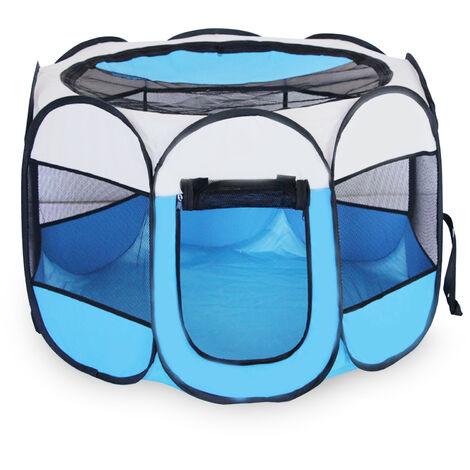 Valla para mascotas octogonal plegable extraible y lavable, jaula para mascotas, talla M
