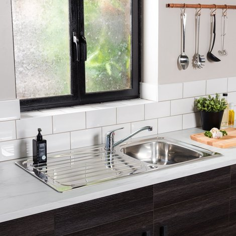 Valle Albany 950x500mm Single Bowl Kitchen Sink - Stainless Steel