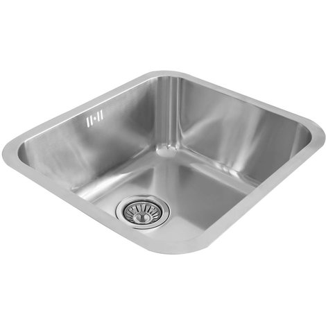 Valle Hamilton 500x450mm Single Bowl Undermounted Kitchen Sink - Stainless Steel