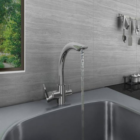 Valle New Luxury Designer Stainless Steel Mono Swivel Kitchen Sink Mixer Tap Faucet