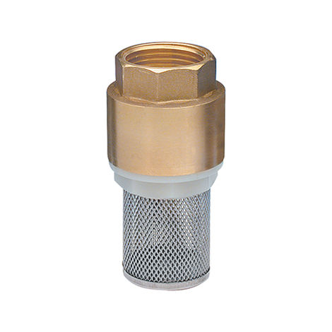 válvula antirretorno con filtro de acero inoxidable