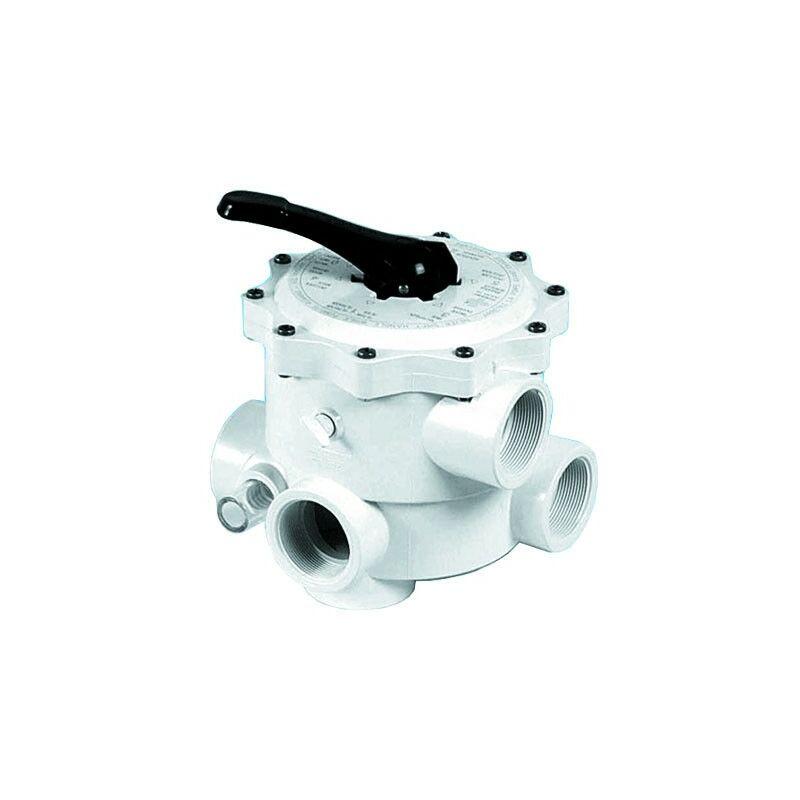 Válvula selectora de piscina 6 vías 1.1/2' - Medidas: Ø2'
