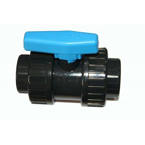 Válvula de bola de 40 mm con bola de PVC encolada