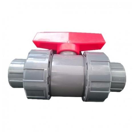 "valvula de bola pvc 40mm 1-1-4"""