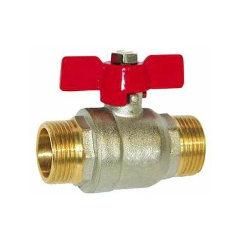 Válvula de bola SFERACO con palanca del acelerador 15x21 mm - macho-macho - 83188 X