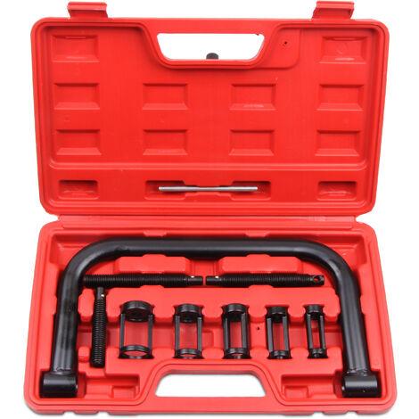 Válvula de Compresor de Muelle, Juego de Extractor de Calentadores, 11 Partes, con estuche roja, Material: Acero C45