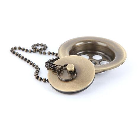 Válvula de desagüe de lavabo universal compatible con la mayoría de lavabos fabricada en latón con acabado en color bronce / oro viejo Kibath