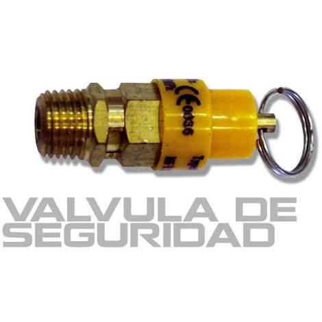 """Válvula de seguridad para compresor rosca 1/4"""""""