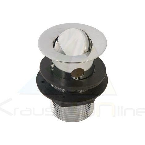 Válvula desagüe lavamanos con tapón giratorio, ranurado (Plumbob-304774)