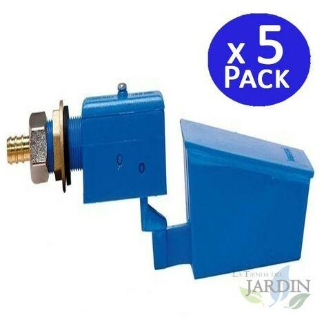 Válvula flotador alta presión plástico. 5 unidades
