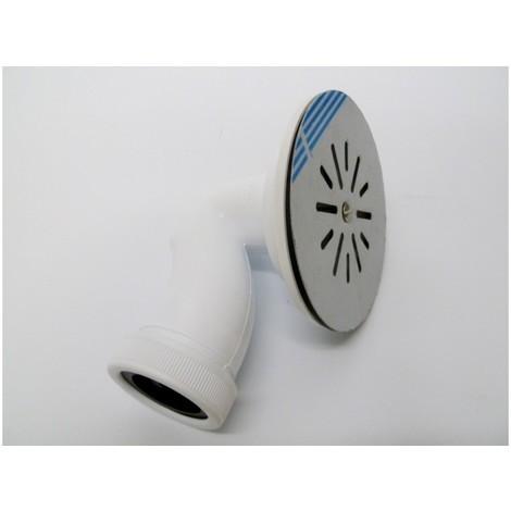 Valvula fontan p.ducha 115mm sifon pvc/inox bl s&m