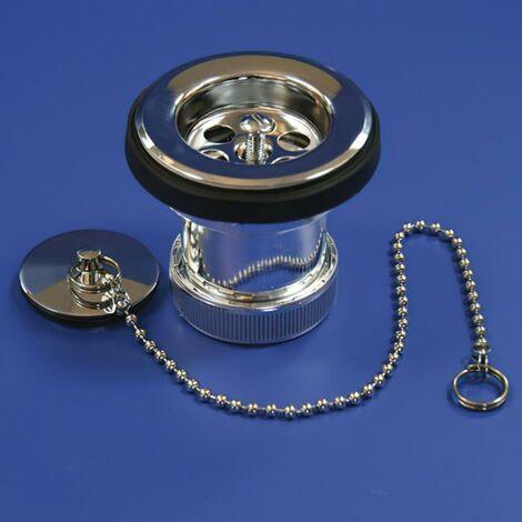 Valvula lavabo/bide metalizada t - 61me 1 1/2