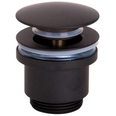 Válvula lavabo en click Negro Mate - IMEX
