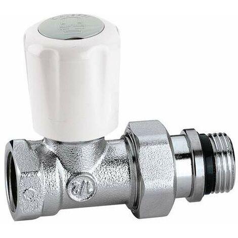 Válvula manual para radiadores. Conexiones rectas, para tubo en hierro CALEFFI 402