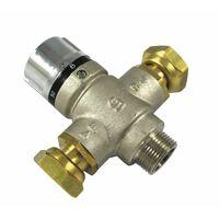 Válvula mezcladora termostatica 3/4 MH tuerca giratoria