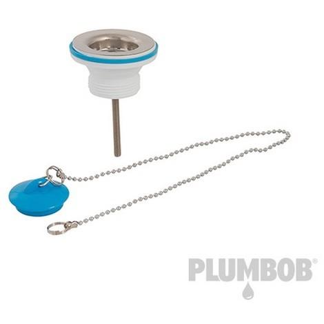 Válvula para desagüe con tapón y cadena (1-1/4'')