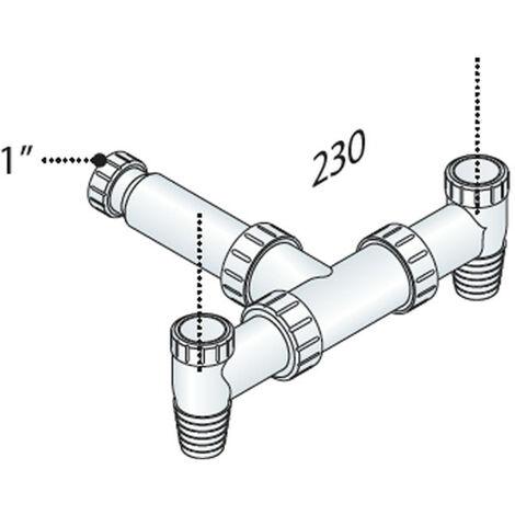 Válvula para el lavado de la máquina (al aire libre OMP PP doble versión 2108.600.4