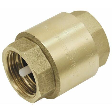 """Válvula retencion cualquier posicion de latón obturador nilón 3/4"""" - DIFF"""