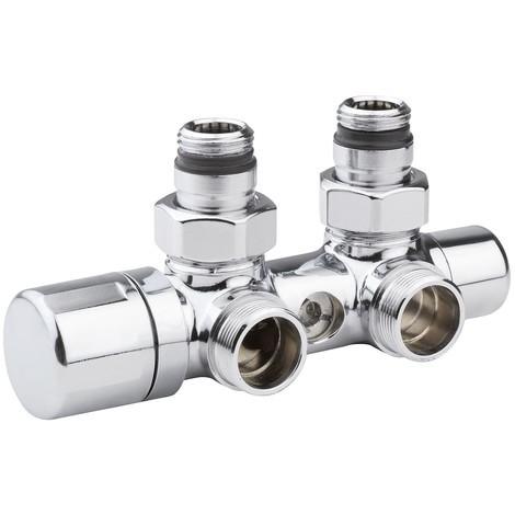 Válvula termostatizable mono-bitubo cromo derecha o izquierda Arteclima 4010HT
