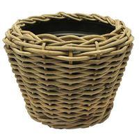 Van der Leeden Drypot® Pflanzkübel Rattan grau, D68 x H52 cm