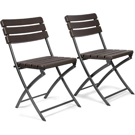 Sedie Pieghevoli Per Esterno.Vanage Set Da 2 Sedie Pieghevoli Da Giardino In Rattan Effetto
